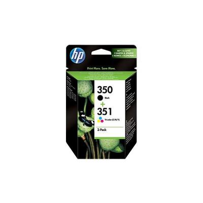 Hp inktcartridge: 350 & 351 combopack zwart + kleur voor o.a DeskJet D4260 & 4360 - Zwart,Cyaan,Magenta,Geel