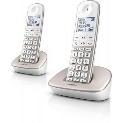 Philips dect telefoon: Draadloze telefoon XL4902S/22 - Zilver, Wit