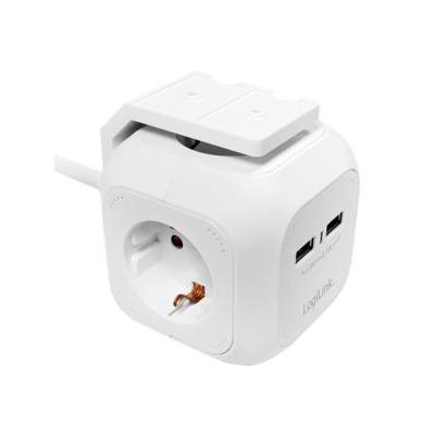 LogiLink Power cube - Multifunctional socket outlet