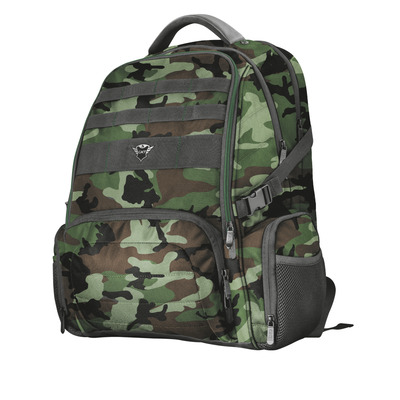 """Trust GXT 1250G Hunter Gaming Backpack for 17.3"""" laptops - green camo Rugzak"""