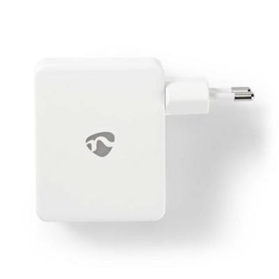 Nedis Wandoplader, 4,8 A, 4 uitgangen, USB-A, Wit Oplader