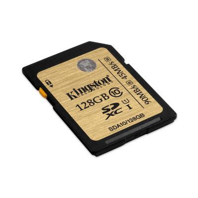 Kingston technology flashgeheugen: SDHC/SDXC Class 10 UHS-I 128GB - Zwart, Bruin