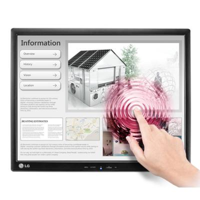"Lg touchscreen monitor: 43.18 cm (17"") LED IPS, 1280x1024, 5 ms, 250 cd/m2, USB, D-Sub - Zwart"