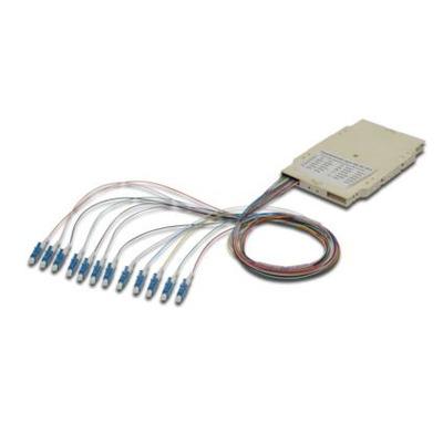 ASSMANN Electronic 12 LC, 62,5/125µ OM1 Fiber optic adapter - Beige