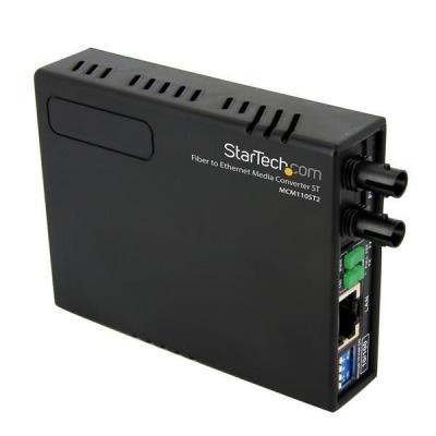 Startech.com netwerk tranceiver module: 10/100 Multi-Mode Glasvezel Ethernet Converter ST 2 km