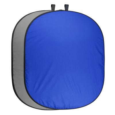 Walimex photo studio equipment set: Foldable Background 200, blue / gray - Blauw, Grijs