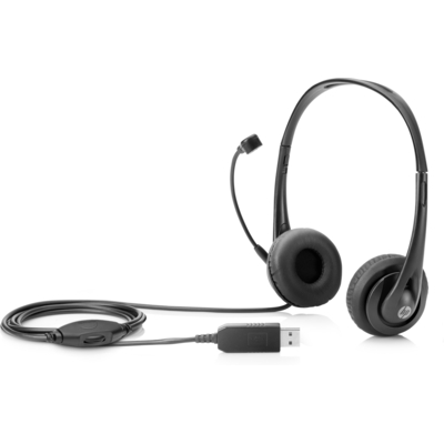 HP USB stereo hoofdtelefoon Headset - Zwart