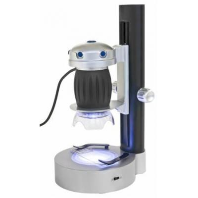 Bresser optics microscoop accessoire: USB hand microscope, LED lighting: 6x white, 3x red,3x yellow, 1.3 MP - Zwart, .....