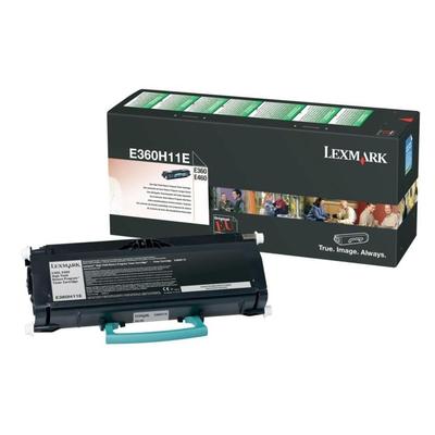 Lexmark E360, E46x retourprogrammacartr, 9K Toner - Zwart