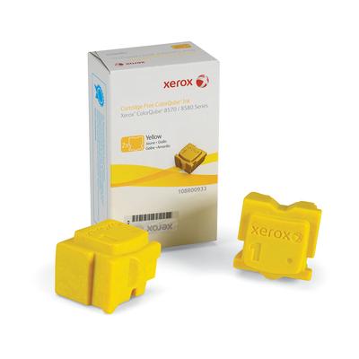 Xerox inkt stick: ColorQube 8570 inkt, geel (2 Blokjes 4.400 Pagina's)