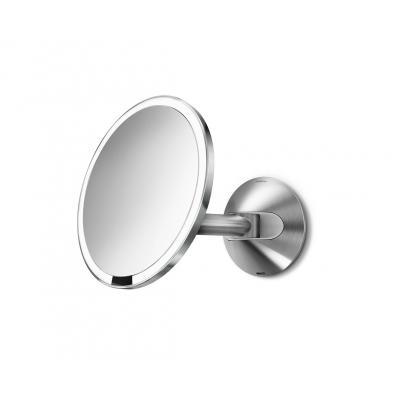 Simplehuman spiegel: 20cm wall mount sensor mirror, 600 lux - Zilver