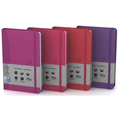 Elba schrijfblok: A6, 72 sheets, pink, fuschia, purple, red - Roze, Paars, Rood