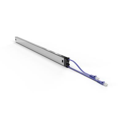 PATCHBOX ® Plus+ Cat.6a Cassette (STP, Violet, Long Range 1.8m + 0.7m / 46RU) Netwerkkabel