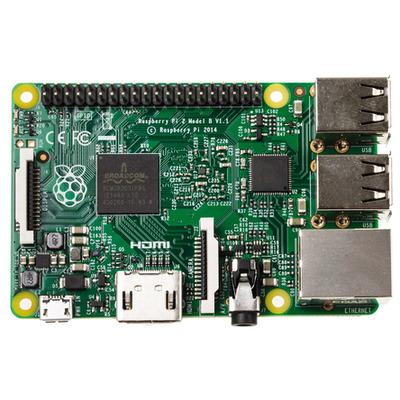 Raspberry pi : Broadcom BCM2836 SoC, ARM Cortex-A7, 900 MHz, VideoCore IV, 1GB LPDDR2, Micro USB, Ethernet, HDMI, 4 x .....