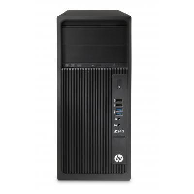 Hp pc: Z 240 MT - Intel Xeon E3 - 256GB Z Turbo Drive G2 SSD - Zwart