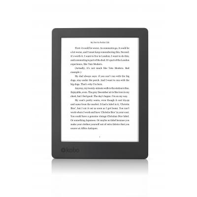 Rakuten kobo e-book reader: Aura H2O, ComfortLight PRO, Waterbestendig - Zwart