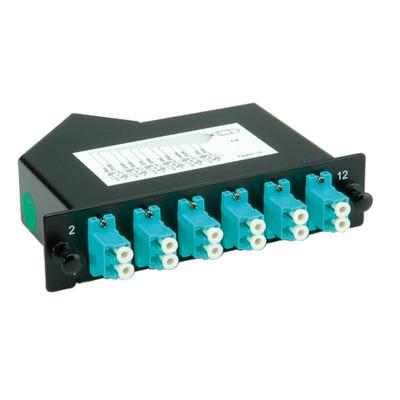 Roline optische cross connect apparatuur: MPO-Modul, MPO-Male /12x LC - Female