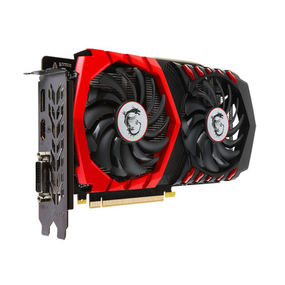 MSI GeForce GTX 1050 TI GAMING X 4G Videokaart - Zwart,Rood