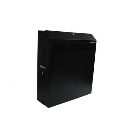 Startech.com rack: 4U 19 inch Beveiligd Serverrack Horizontale Wandmontage inclusief 2 Ventilatoren - Zwart