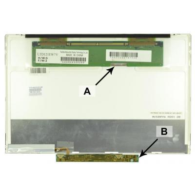 2-power notebook reserve-onderdeel: 12.1 WXGA 1280x800 LED Matte Screen - replaces 451741-001 - Zwart