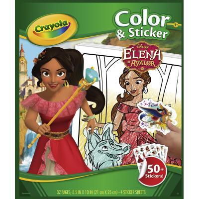 Crayola kleurplaat en boek: Elena van Avalor Kleurboek met stickers