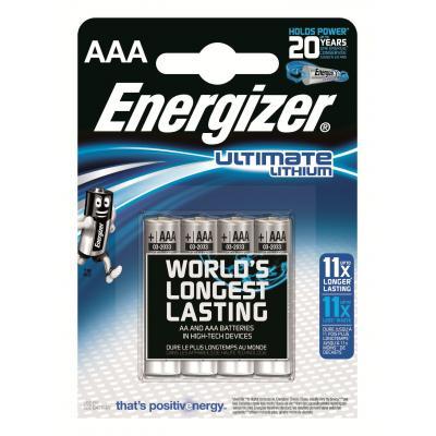 Energizer ENLITHIUMAAAP4 batterij - Zilver