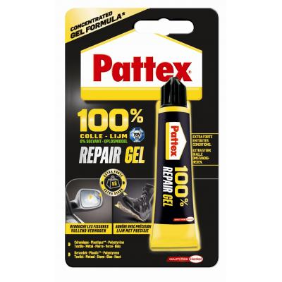 Pattex lijm: 100% Repair Gel - Zwart, Geel