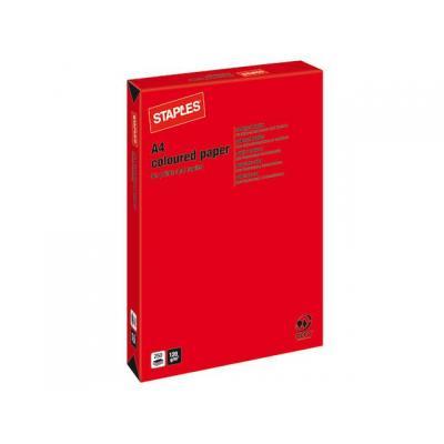 Staples papier: Papier SPLS A4 120g felrood/pak 250v