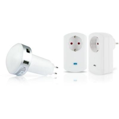"""Schwaiger : HOME4YOU® Starter Set """"Electricity"""", Z-Wave, Z-Wave plus, Zigbee - Wit"""