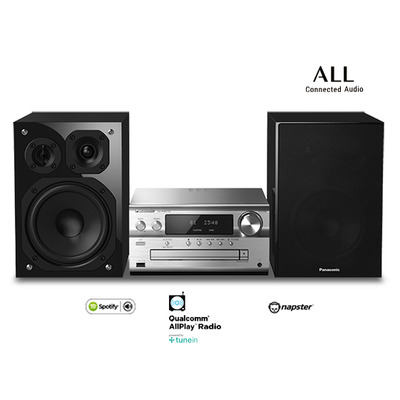 Panasonic SC-PMX152 Home stereo set - Zwart, Zilver