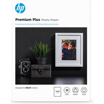 HP Premium Plus glanzend, 20 vel, 13 x 18 cm Fotopapier