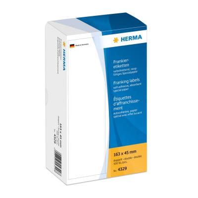 Herma etiket: Franking labels double 163x45 mm 500 pcs. - Wit