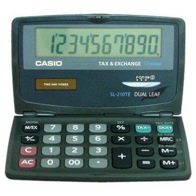 Casio calculator: SL-210TE - Pocket Calculator - Zwart