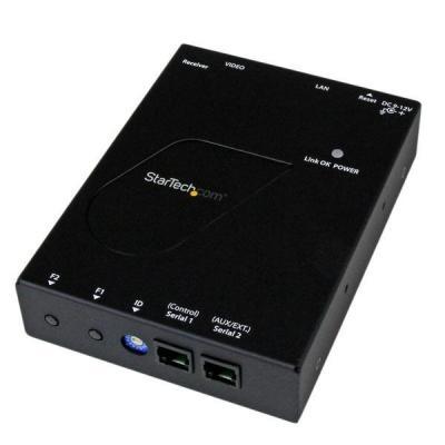 Startech.com AV extender: HDMI-video over IP gigabit LAN Ethernet ontvanger voor ST12MHDLAN 1080p - Zwart