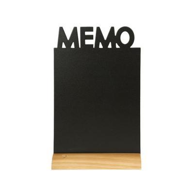 Securit bord: Memo - Zwart, Hout