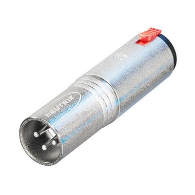 Neutrik 3p XLR NA3MJ adapter Kabel adapter - Zilver
