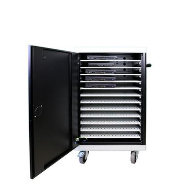 Leba NoteCart UniFit voor 12 laptops MacBooks Apple Portable device management carts & cabinet - Zwart, Grijs