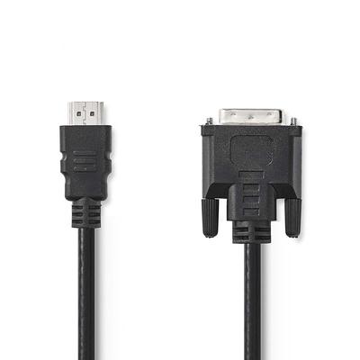 Nedis HDMI™ - DVI Cable   HDMI™ Connector - DVI-D 24+1-Pin Male   10 m   Black - Zwart