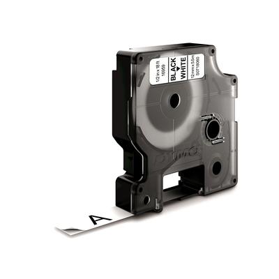 DYMO D1 -Durable Labels - Black on White - 12mm x 5.5m Labelprinter tape