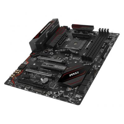 MSI AM4, AMD X370, 4 x DDR4, 1x Realtek 8111H, 30.4 cm x 24.3 cm, ATX, 6x SATA 6Gb/s, 1x M.2 Moederbord