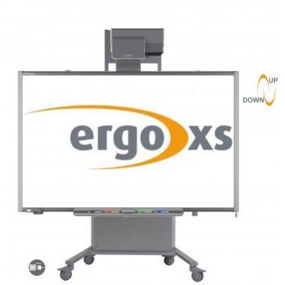 ErgoXS Digibord Trolley Vast, 123 - 153 cm - Grijs
