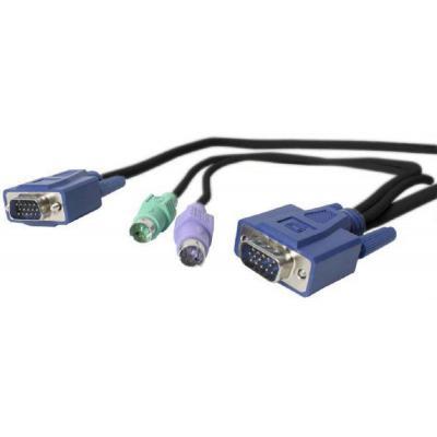 Newstar KVM kabel: Met deze 3-in-1 KVM kabel, NSECON20, sluit u een KVM over IP switch, NS841HDI of NS1641HDI, aan op .....