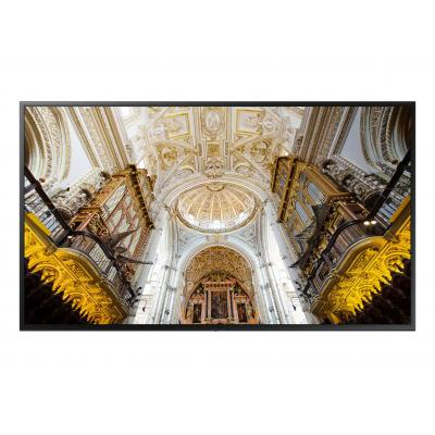 Samsung public display: 4K UHD Standalone Display QBN 75 inch - Zwart
