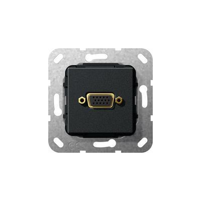 GIRA Basiselement VGA 15-polig Koppeling, zwart mat Wandcontactdoos