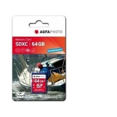 AgfaPhoto 64GB SDXC Flashgeheugen - Multi kleuren