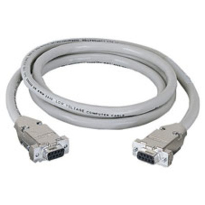Black Box DB9 Extension Cable with EMI/RFI Hoods, Beige, Female/Female, 50-ft Seriele kabel