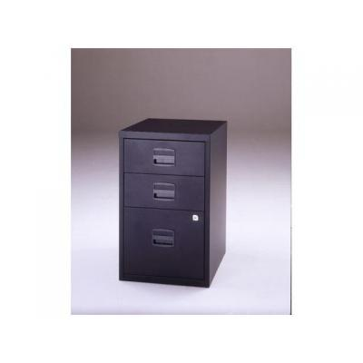 Bisley archiefkast: Ladenkast 3 laden, 2 laag-1hoog,zwart