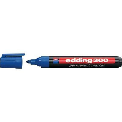 Edding marker: 300 - Zwart, Blauw