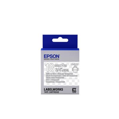 Epson Transparent Tape - LK-5TWN Clear White/Clear 18/9 Labelprinter tape