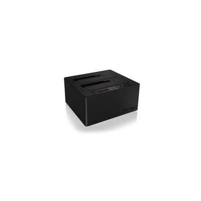 ICY BOX IB-121CL-C31 HDD/SSD docking station - Zwart